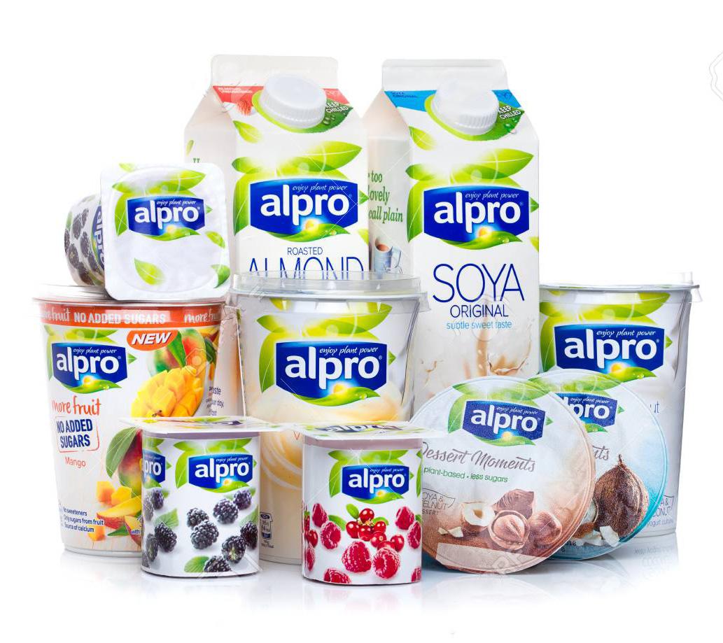 alpro bebida y yogur vegano
