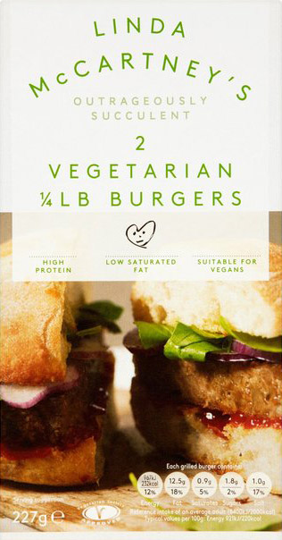burger vegana linda mccartney